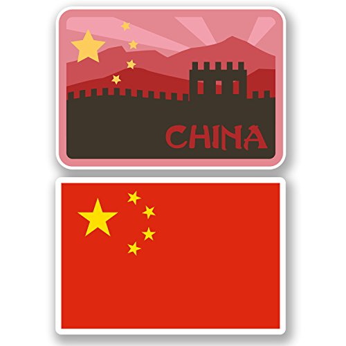 2-x-china-vinyl-stickers-ipad-laptop-car-suitcase-travel-labels-flag-gift-4808-10cm-wide