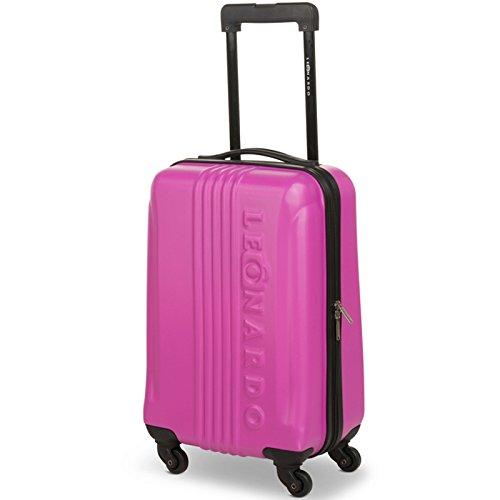 JEMIDI Handgepäck Trolley Boardcase Reise Koffer Hartschale Cabin Bordgepäck Trolly Bag (Modell Pink)