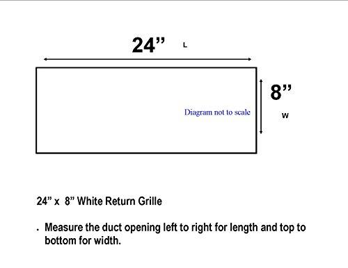 Accord abrgwh248Return Gitter mit 1/2Fin, mit Belüftungsschlitzen 24x 20,3cm, Weiß