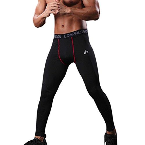 Herren Laufhose/ Herren Jogginghose,Bovake Mens Gym Sport Thermo Tight Compression Unterschicht Hose {Lange Leggings} Hosen (L) (Tight Performance Die Thermal Run)