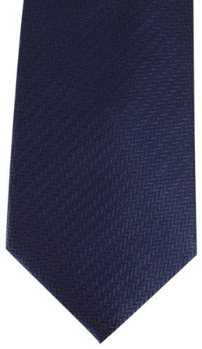 Navy spina di pesce Cravatte di David Van Hagen