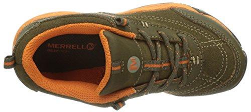 Merrell Allout Athl Ltt, Chaussures de randonnée basses garçon Multicolore (Brn/Org)