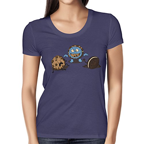 TEXLAB - Monster Prank Cookie - Damen T-Shirt Navy