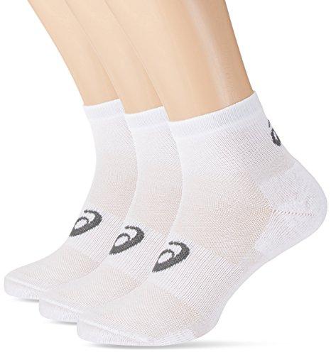 Asics Quater (Socken 3 Paar), Weiß, Größe 43-46 (Wolle Fusion)
