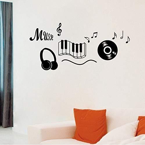 Musik Aufkleber Kopfhörer Thema Musik Schlafzimmer Dekor Tanzen Musik Hinweis Abnehmbare Wandaufkleber Adesivo De Parede Räume Dekor