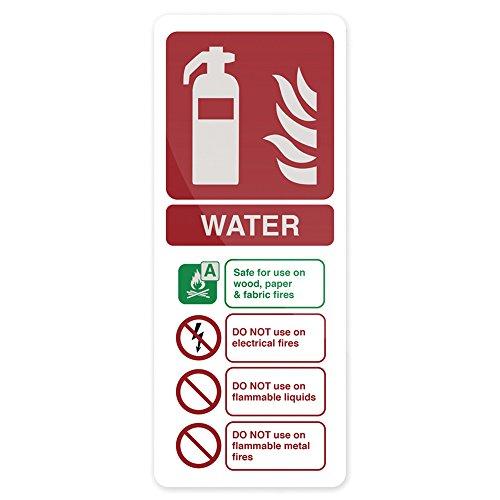 FIXMAN 630298 Hinweisschild Wasser-Feuerlöscher nach EN3 202 x 82 mm, selbstklebend