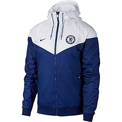 2017-2018 Chelsea Nike Authentic Windrunner Jacket (Blue)