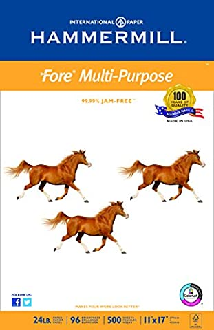 Hammermill Paper, Fore MP, 24lb, 11 x 17, Ledger, 96