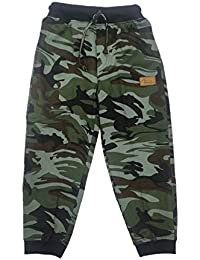 Tikolo Camouflage Print, Pure Cotton Track Pants for Boys and Kids Tiger Rib 3-14 Years
