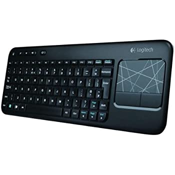 Logitech Touch K400 Tastiera Wireless con Touch-Pad Integrato, Nero [Layout Italiano QWERTY]