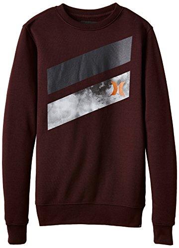 Hurley Herren Boardshorts Icon Slash Crew Sweatshirt Jungen rot Bordeaux FR : M (Taille Fabricant : M) (Sweatshirt Crew Icon)