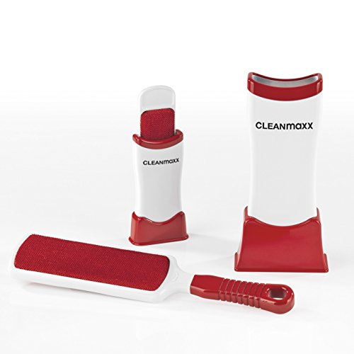 CLEANmaxx Selbstreinigendes Set Fusselschreck 4-TLG. (1 große Universal-Flusen-Bürste, 1 kleine Reise-Fusselbürste) (Version 2018)