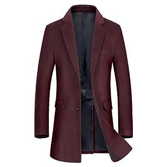 Immagine non disponibile. Immagine non disponibile per. Colore  Uomo  Cappotto Cappotti da Uomo Signori Ragazzi Caloroso Invernale Giacche Di  Lana Singolo ... db9eacc1b53