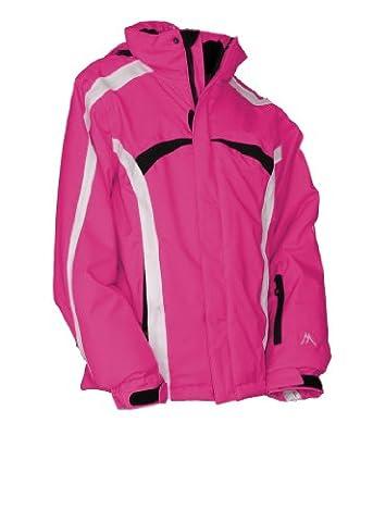 Maier Sports Kinder Funktionsjacke kurz Snowflake, signal pink / fuchsia red, 164, 523110