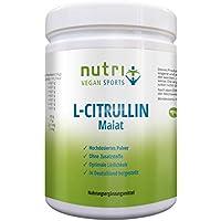 L-Citrullin Malat Pulver 500g - hochdosiert - Fitness und Bodybuilding - höchste Reinheit aus Deutschland - Nutri-Plus Vegan Sports - mit Piperin