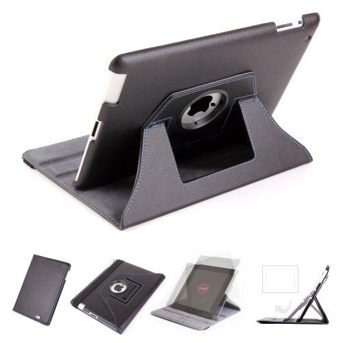 DURAGADGET drehbar Kunstleder Leder Hülle für Ipad2Apple Neueste Generation iPad 2(alle Modelle)–magnetische Sleep/Wake Funktion