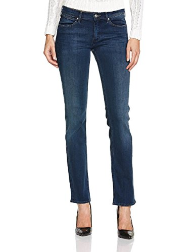 Wrangler Damen Straight Leg Jeanshose Blau Soft Creek Gr. 34 W / 32 L, Blau - Soft Creek