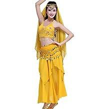 Disfraz Mujer Carnaval Rendimiento Las Profesionales Danza del Vientre Trajes Basic Ropa Establece Indian Dance Elegante