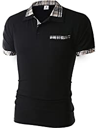 Glestore Homme Polo Shirts Manche Courte Casual T-shirt Mode Chemise