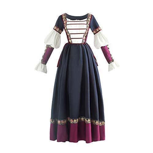Renaissance Kostüm Römische - NSPSTT Damen Mittelalter Kleid Renaissance Outfit Römisch Lady Krieger Kostüm für Cosplay