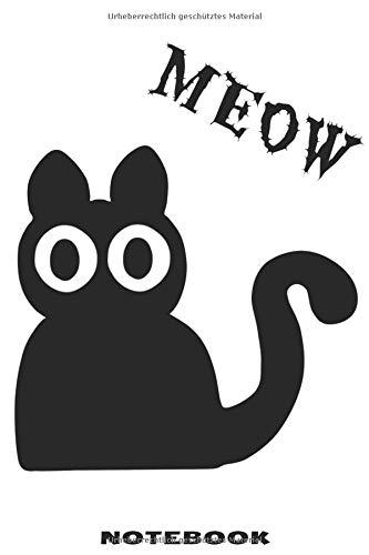 o Notizbuch mit schräger Katze Design für Männer und Frauen ()
