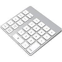 Cateck wiederaufladbares, kabelloses Bluetooth-Nummernpad aus Aluminium für iMac, MacBook Air, MacBook Pro, MacBook und Mac Mini