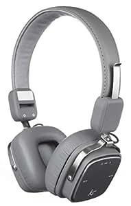 KitSound Clash Evolution Wireless Bluetooth On-Ear Headphone with Microphone - Grey