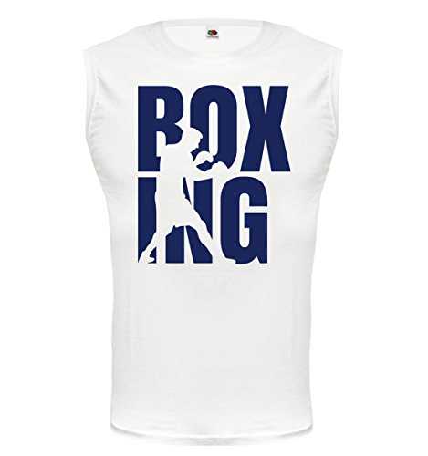 buXsbaum® Tank Top Boxing Type White-Navy