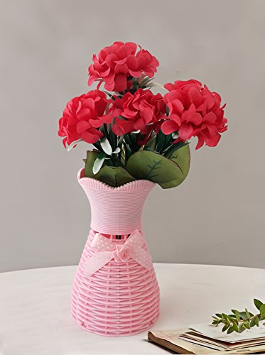 TiedRibbons® Flower vases with artificial flowers (25 Cm X 10 Cm) |...