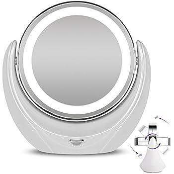 Rantizon Makeup Mirror Led Illuminated Cosmetic Mirror 1x