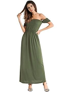 Moda Vestido | Vestido para mujer Vestidos europeos y americanos | Una palabra collar, falda larga de manga corta...