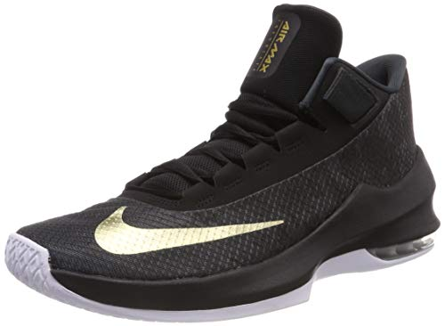 Nike Herren Air Max Infuriate 2 Basketballschuhe, Schwarz (Anthracite/Metallic Gold/Black/White 002), 46 EU