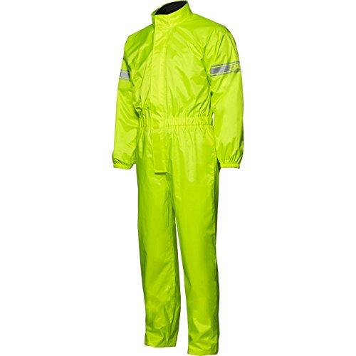 DXR Motorradkombi Regenkombi Textil Regenkombi, Weitenverstellung am Hosensaum, wasserdicht, Reflexmaterial am Oberarm, Packtasche, langer Reißverschluss, Beinweitenverstellung, Gelb, XXL / 2XL