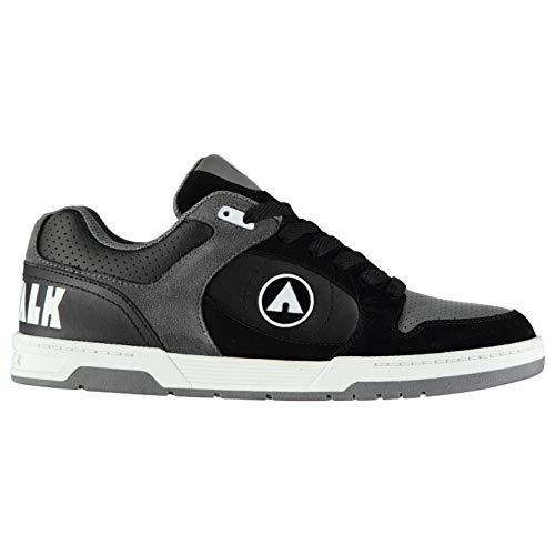Airwalk Drossel Junior Jungen Skateboard Turnschuhe Schuhwerk - Schwarz, 6 UK - Knöchel Akzent