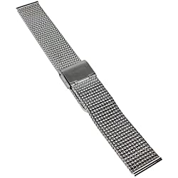 Casio Milanaise Armband Uhrenarmband Edelstahl Band silberfarben für Sheen Kol Saati she-5020d