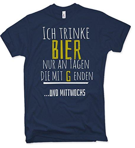 """NG articlezz T-Shirt Ich Trinke Bier Nur An Tagen Die mit """"G"""" Enden und MITTWOSCHS Funshirt S-XXL (Distressed Bier)"""