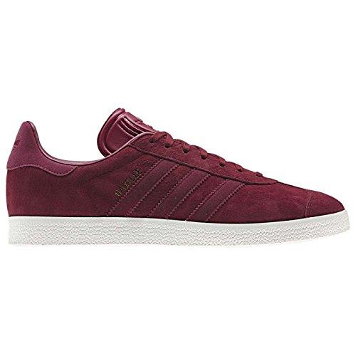 adidas Women's Gazelle Low-Top Sneakers, Black (Collegiate Burgundy/Mystery Ruby F17/Gold Met.), 6...