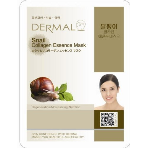 Dermal Korea Collagen Essence Full Face Facial Mask Sheet - Snail (10 Pack) by ninetong