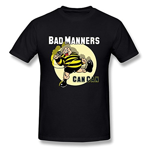 Men's Bad Manners Can Can Singer T-Shirt Black