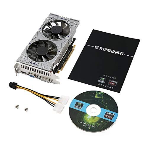 Nichino Gaming Video Graphics Card for Desktop 1G DDR5 128 Bit HDMI & VGA & DVI Port Support 2048 * 1024 Resolution