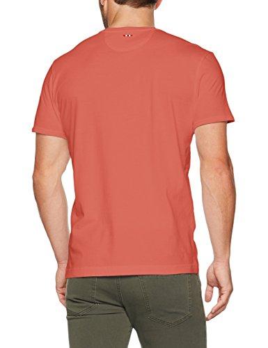 Napapijri Herren T-Shirt Sover Rot (Crabapple P73)
