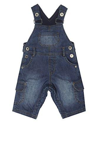 Steiff Baby - Jungen Latzhosen, Gr. 80 (Herstellergröße: 80) Blau (dark blue denim blue 0012)
