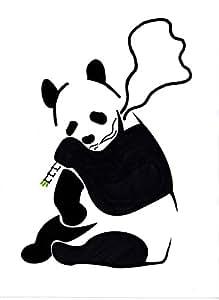 024 Banksy Poster Panda Pochoir Art Print