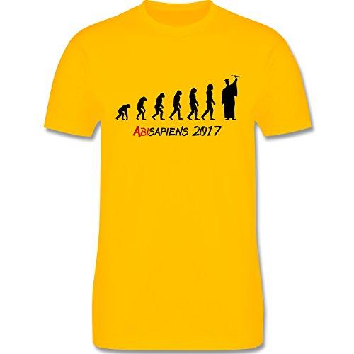 Abi & Abschluss - ABIsapiens 2017 - Herren Premium T-Shirt Gelb