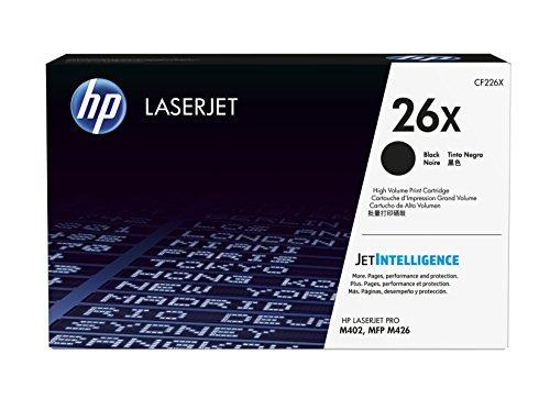 Preisvergleich Produktbild HP 26X (CF226X) Schwarz Original Toner mit hoher Reichweite für HP Laserjet Pro M402, HP Laserjet Pro M426