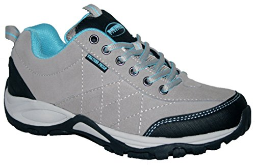 Confort Femmes à léger marche résistant à aux Chaussures mémoire en doublée clair de lacets gris intempéries Keller mousse Uxr7SUqA