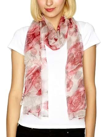 Bellewear Large Silk Women's Scarf White Multi One Size