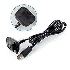 Neuftech - Cavo USB di caricatore per Xbox 360 controller wireless - Nero