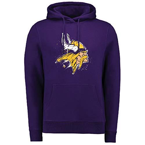 Fanatics Splatter Hoody - NFL Minnesota Vikings lila - XXL (Vikings Minnesota Geburtstag)
