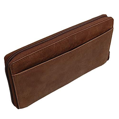 Leder Reise-brieftasche (BOCCX Reiseorganizer Ticketbörse Reisepasshülle RFID-Blocker Brieftasche Reisebörse Leder Reisebrieftasche GoBago)